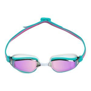 Aqua Sphere Fastlane Roze Titanium Gespiegelde Zwembrillen - Roze / Turquois