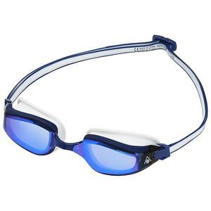 Aqua Sphere Fastlane Blauw Titanium Gespiegelde Zwembrillen - Blauw / Wit