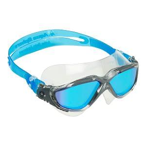 Vista Blue Titanium Mirrored Lens Clear/Grey